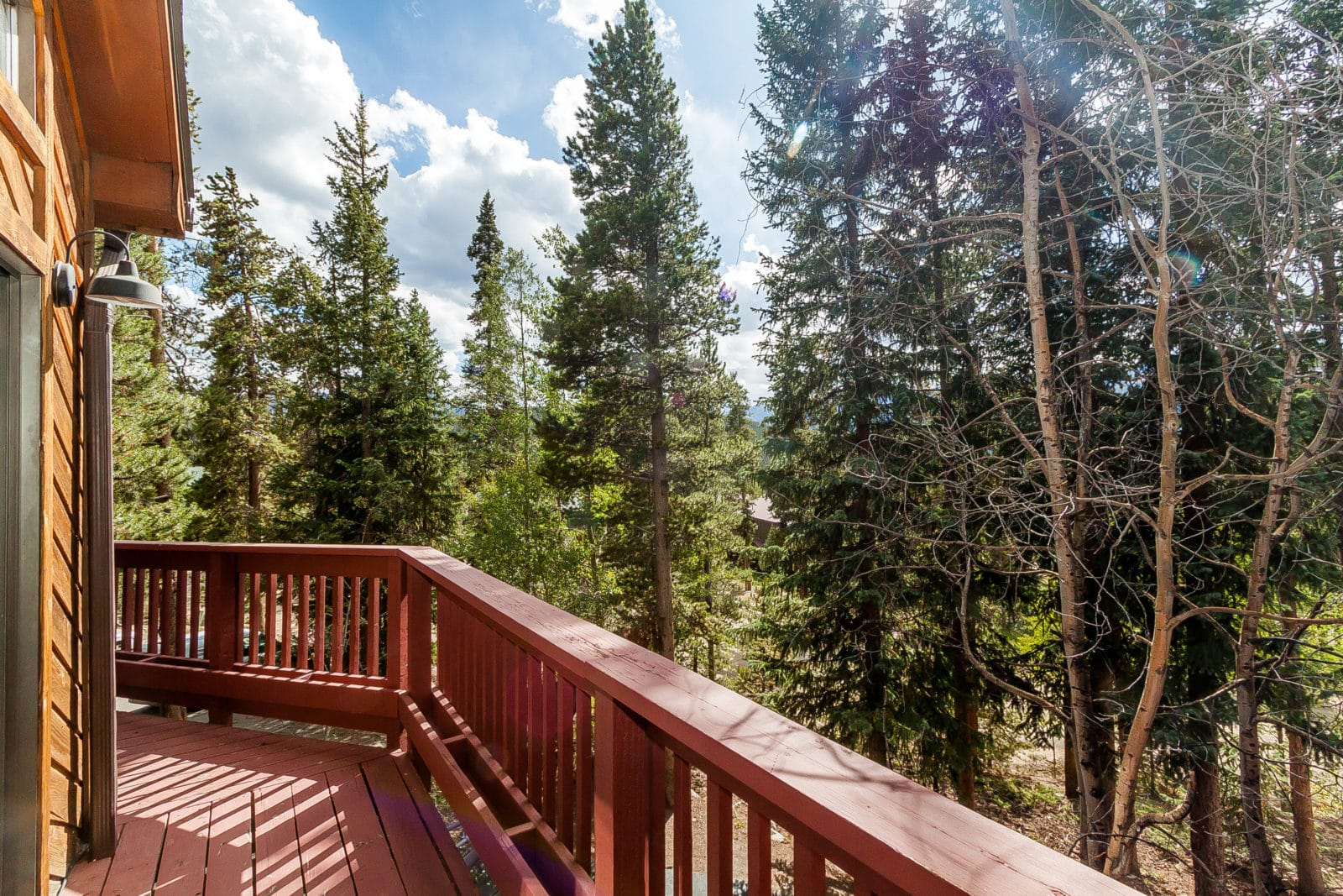 view from unit on south fuller place road in breckenridge colorado