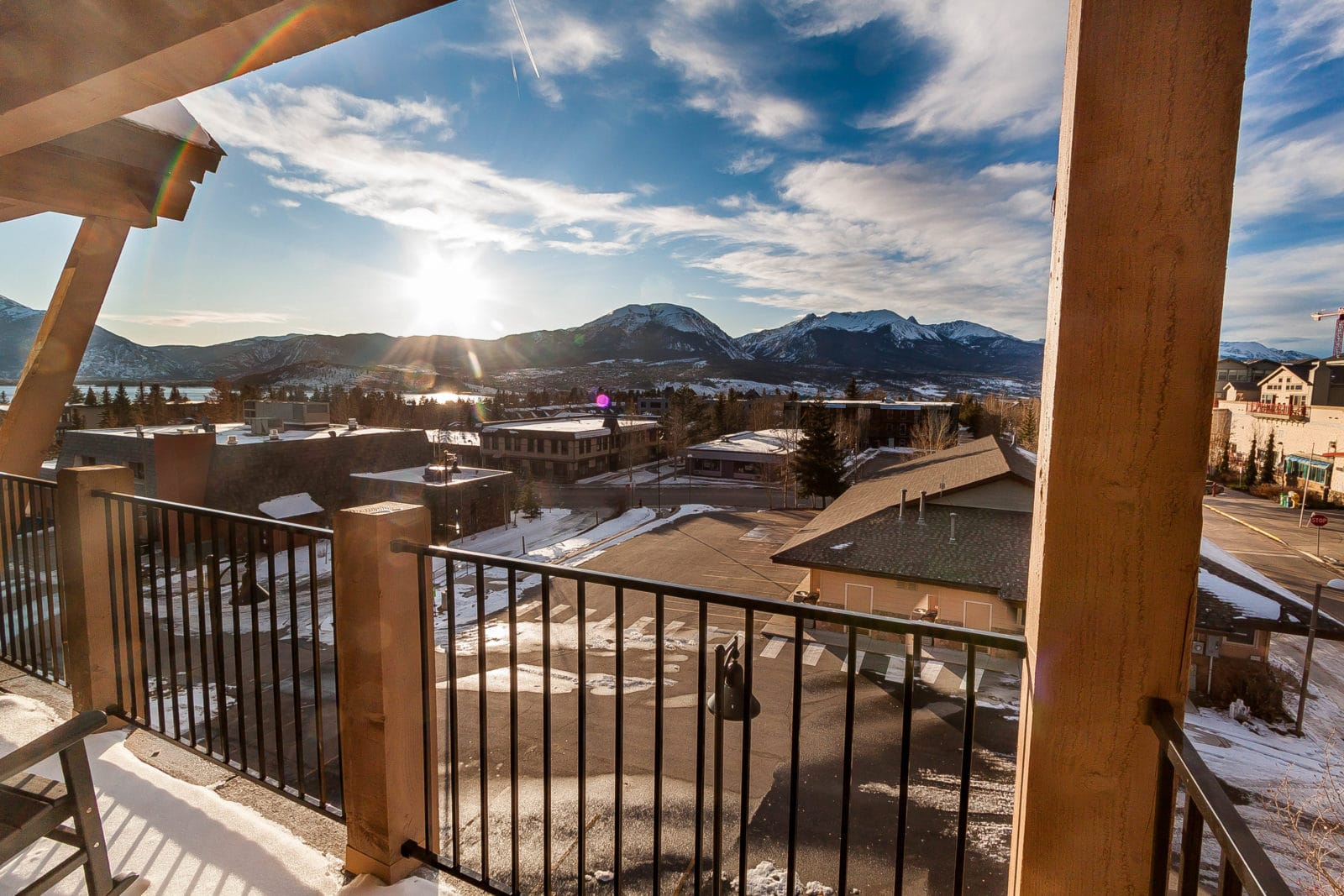 View from Sail Lofts in Dillon, CO balcony