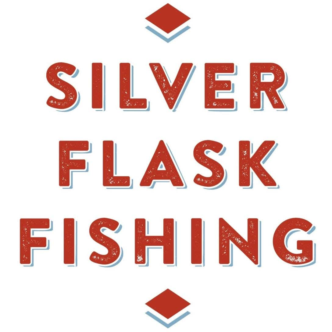 silver flask fishing logo