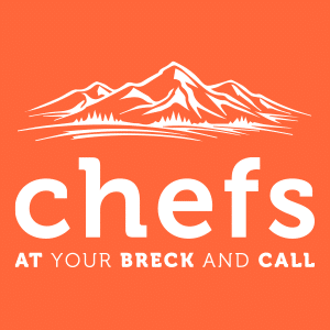 logo for chefs at your breck and call