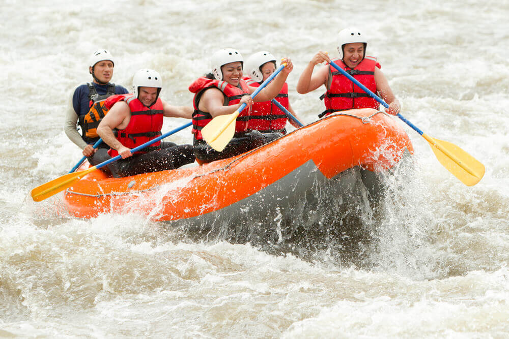 Photo of a Group White Water Rafting in Breckenridge Colorado.